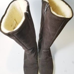 Pajar Womens Shearling Suede Boots Size 6.5